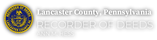 County of Lancaster, Office of Recorder of Deeds